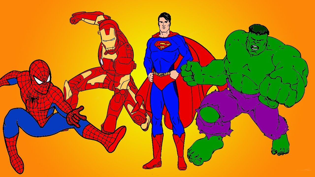 Hulk Vs Superman Coloring Pages.