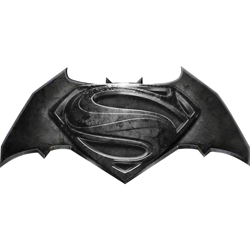 Deluxe Batman V Superman Logo Lapel Pin.