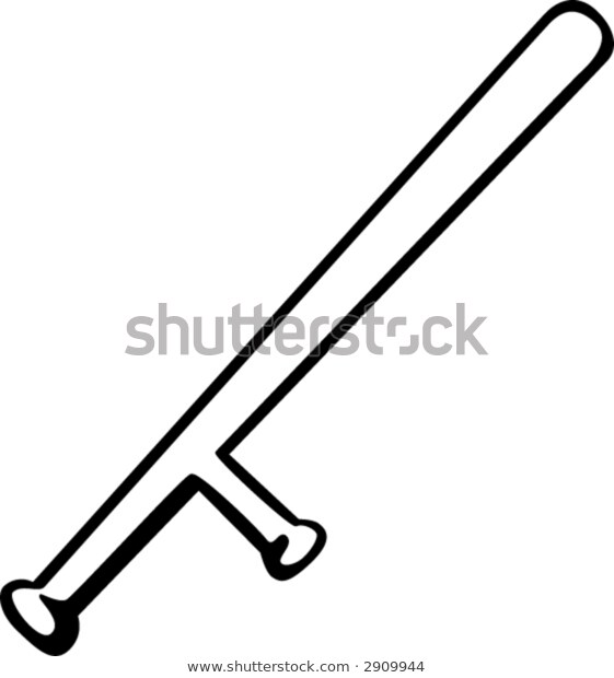 Police Baton Stock Vector (Royalty Free) 2909944.