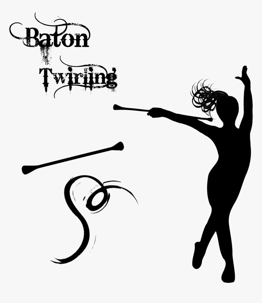 Baton Twirling Majorette Cheerleading Drum Major Clip.