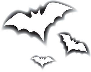 Flying bats clipart.