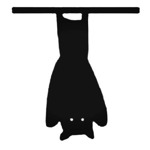 Bat Hanging Upside Down Decal Sticker.