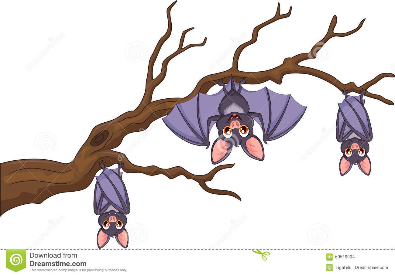 Sleeping Bats Clipart.