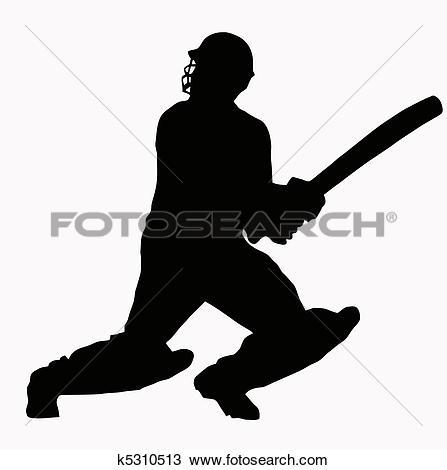 Batsman Clip Art Vector Graphics. 483 batsman EPS clipart vector.