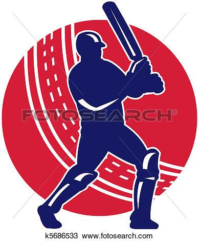 Clipart of Duck Cricket Player Batsman Standing k16750212.