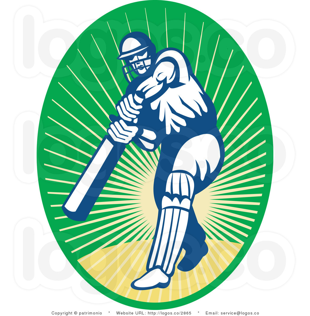 cricket clipart sports clip art of a cricket batsman with text by.