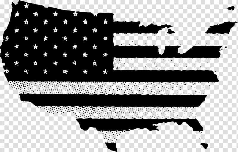 Flag of the United States , batten design transparent.