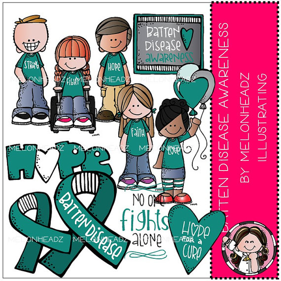 Batten Disease Awareness clip art COMBO PACK by MelonheadzClipArt.