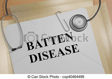Stock Illustration of Batten Disease concept.