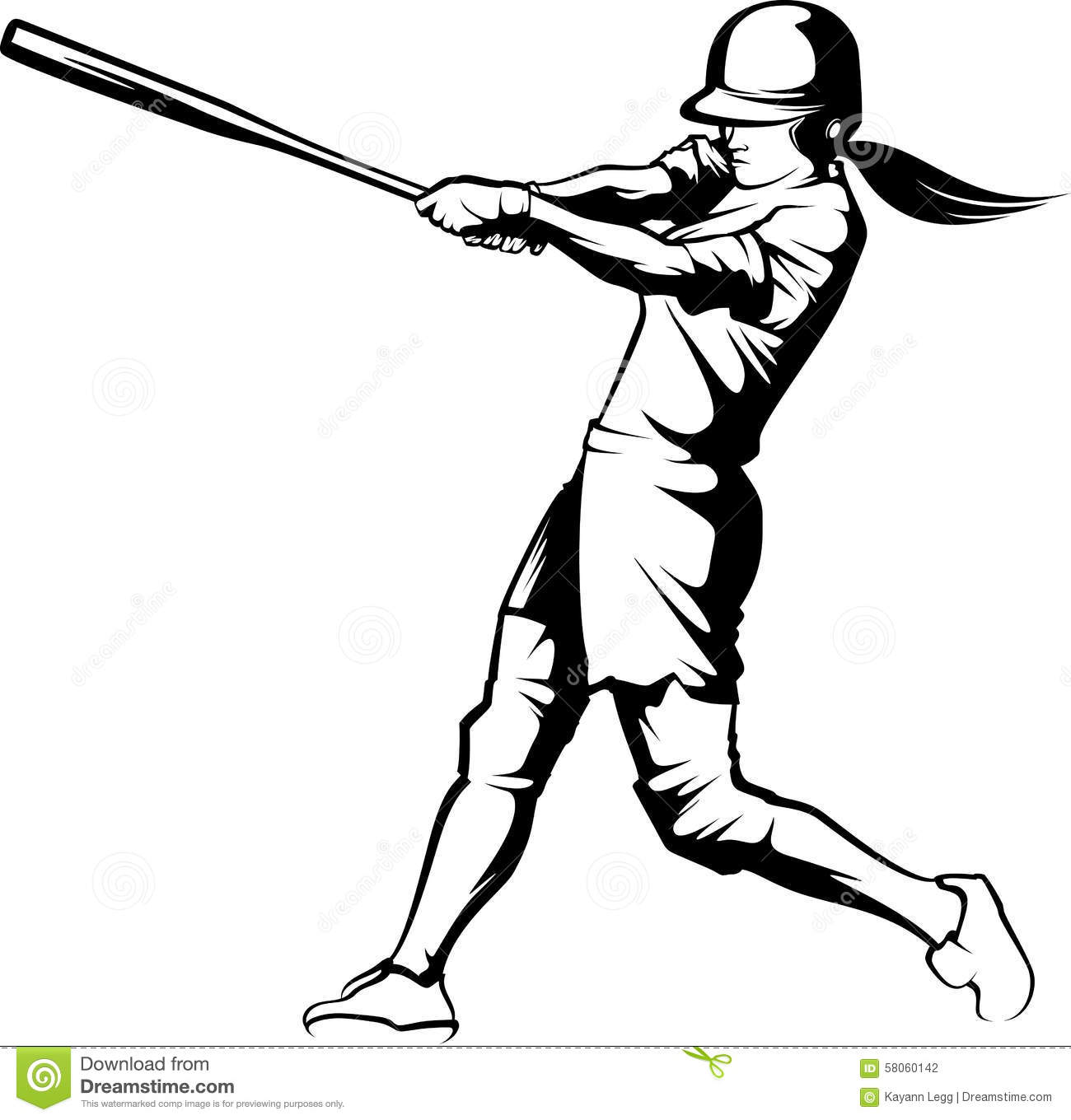 Softball Batter Clipart.