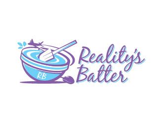 Realitys Batter logo design.