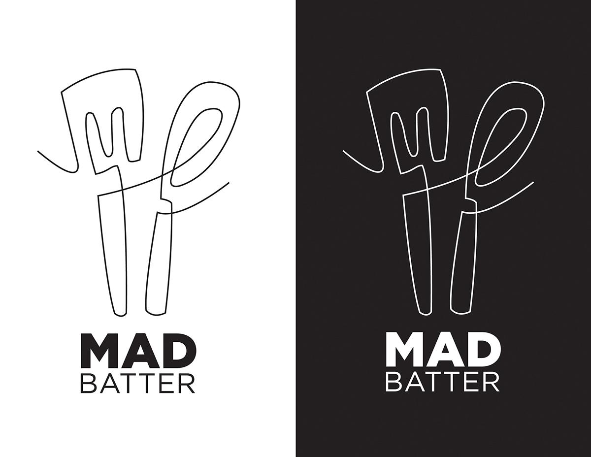Mad Batter Logo Design on Behance.