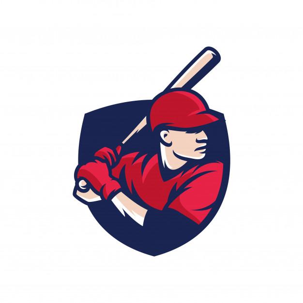 Baseball batter sport logo Vector.