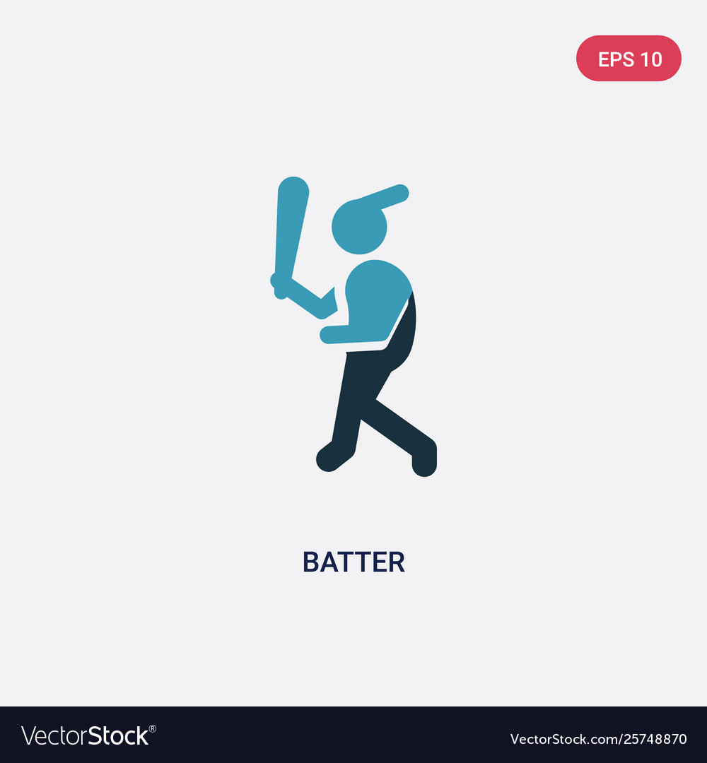 Two color batter icon from sports concept.
