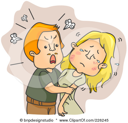 Battered wife clipart.
