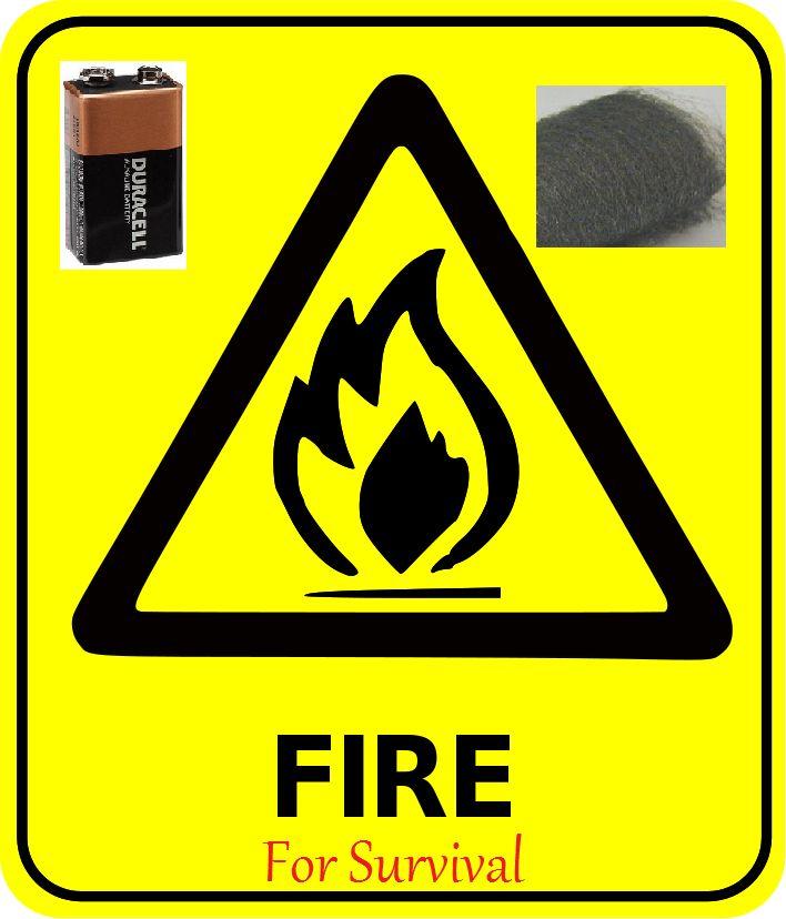 Easy Fire Starter Technique, Using a Single Battery.: 7 Steps.