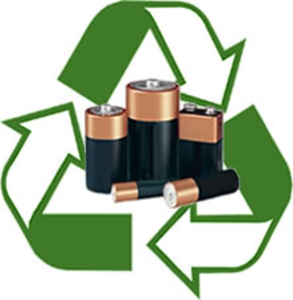 Battery recycle clipart.