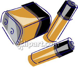 Used Batteries Clip Art.