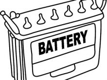Battery clipart black and white, Picture #262290 battery.