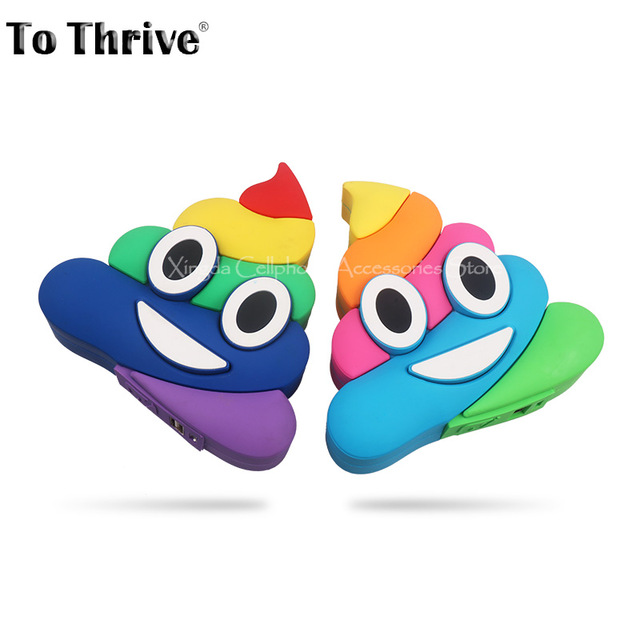 Real 2000mAh Power Bank Color Expression Funny Poo Mobile Power.