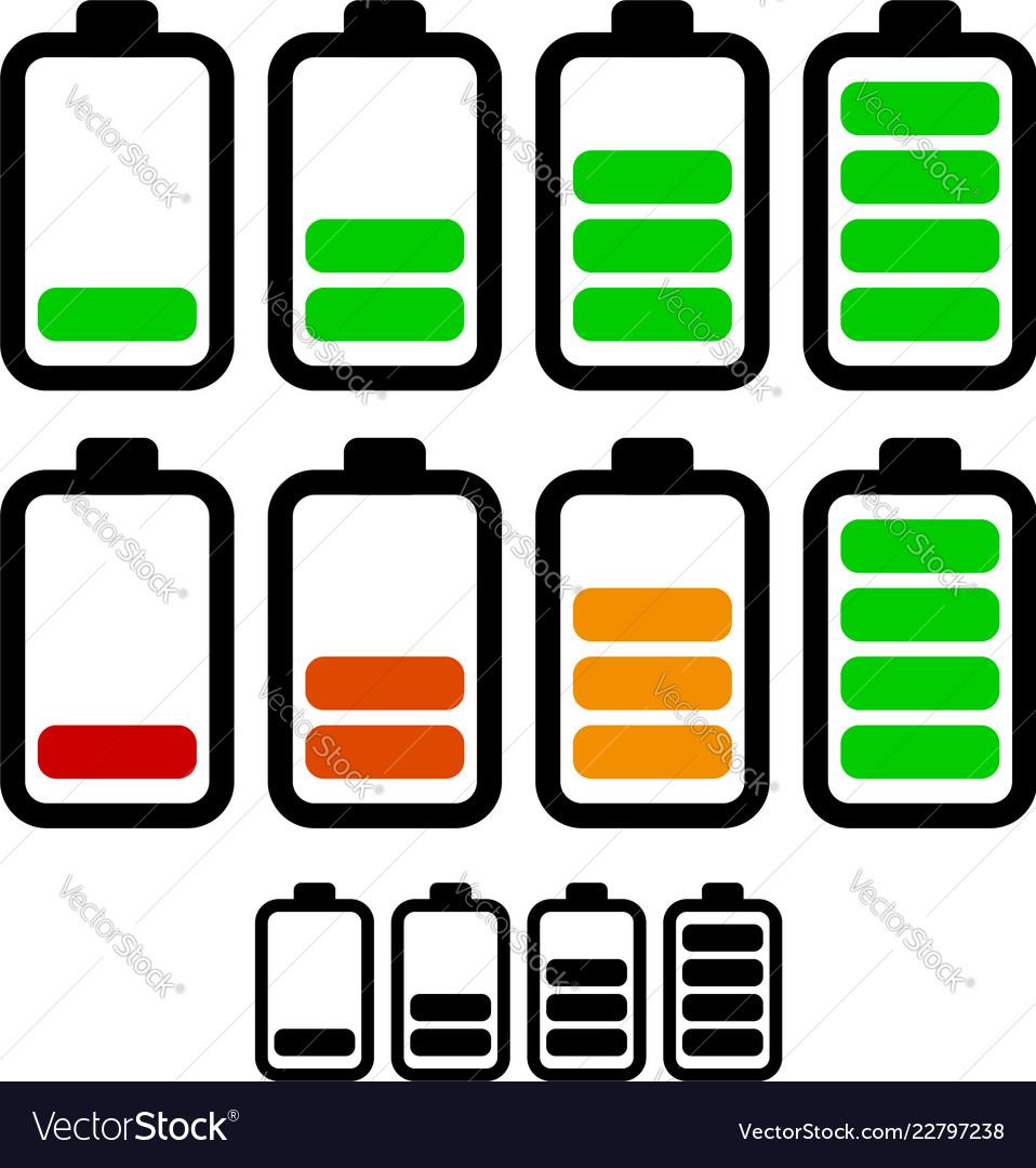 Battery level indicators battery life accumulator.