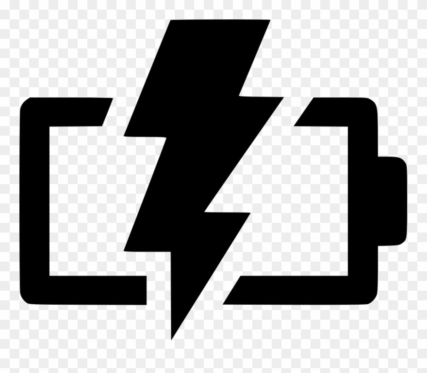 Battery Charging Png Image Black And White.