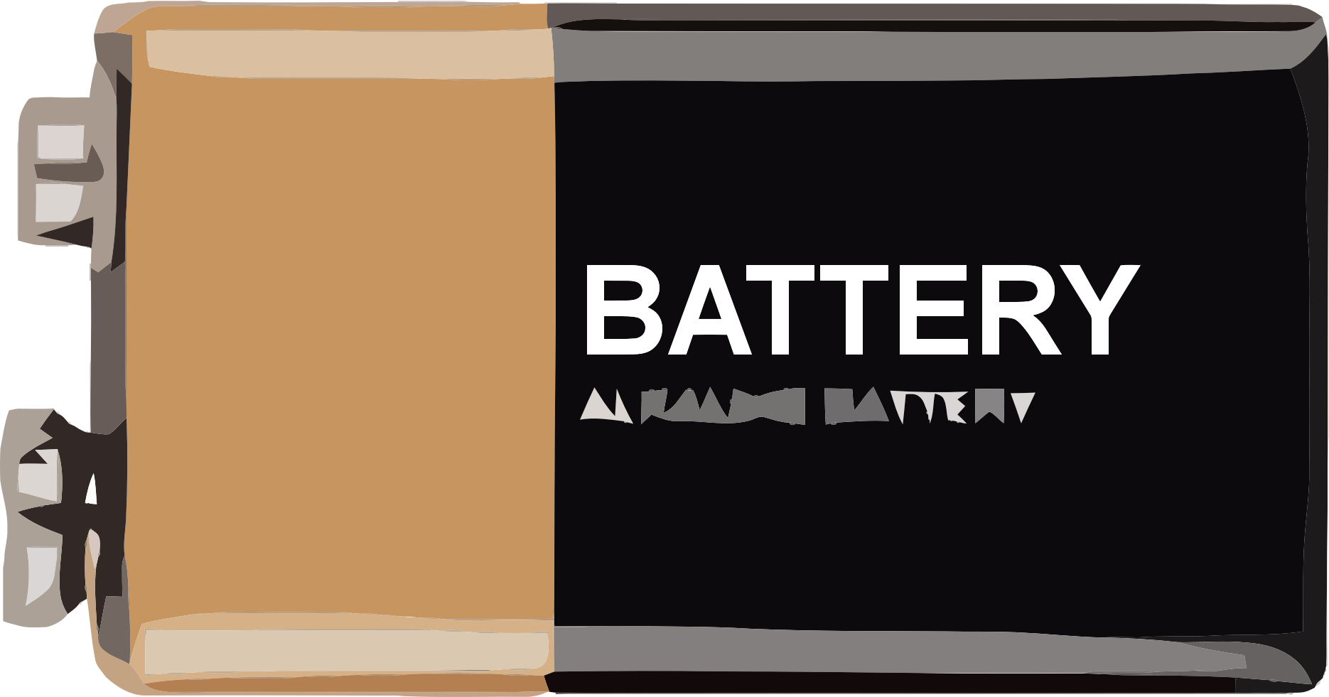 9 volt battery clipart.