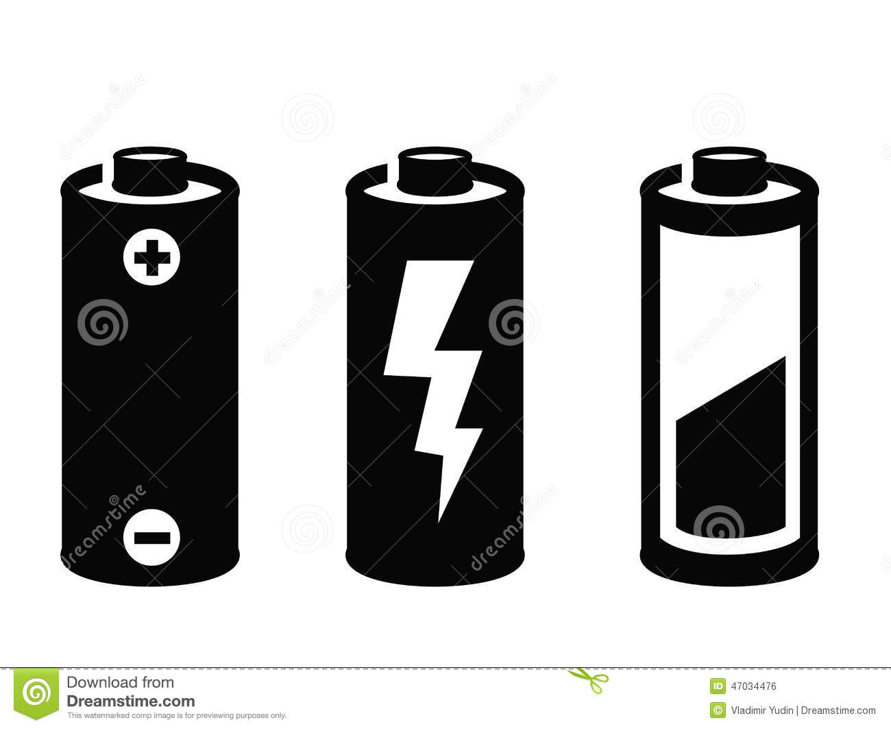 595 Battery free clipart.