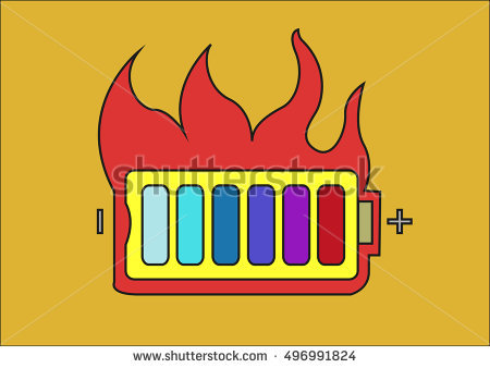 Battery explosion clipart #19