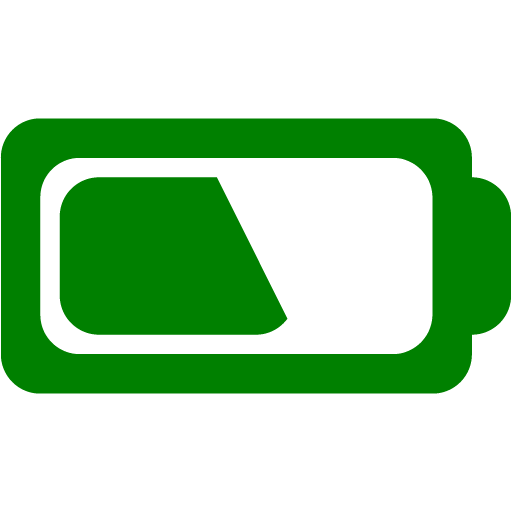 Green battery icon.