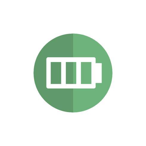Illustration of battery status icon.