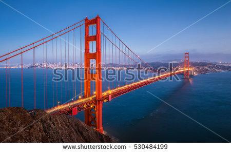 Golden Gate Bridge Stock Images, Royalty.