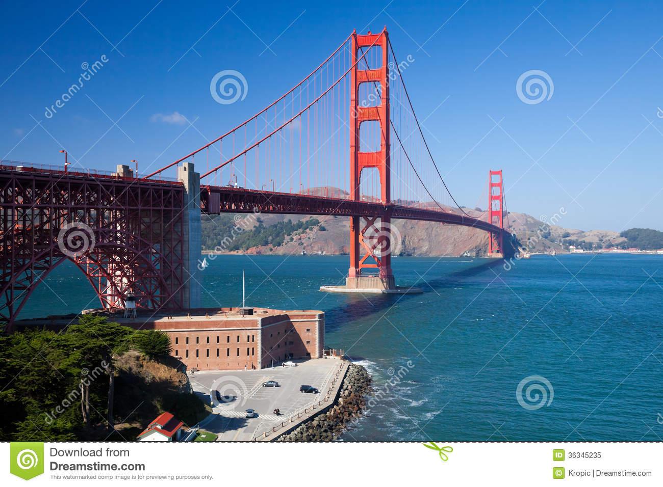 The Golden Gate Bridge Royalty Free Stock Photo.