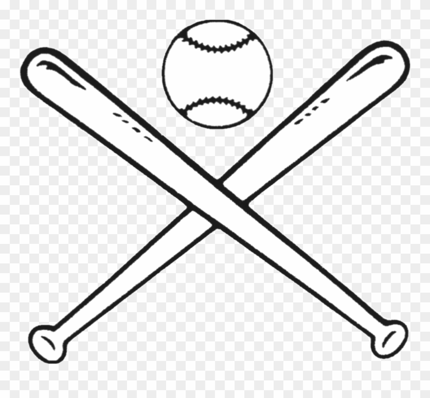 Baseball Bats Drawing Bat And Ball Games Clip Art.