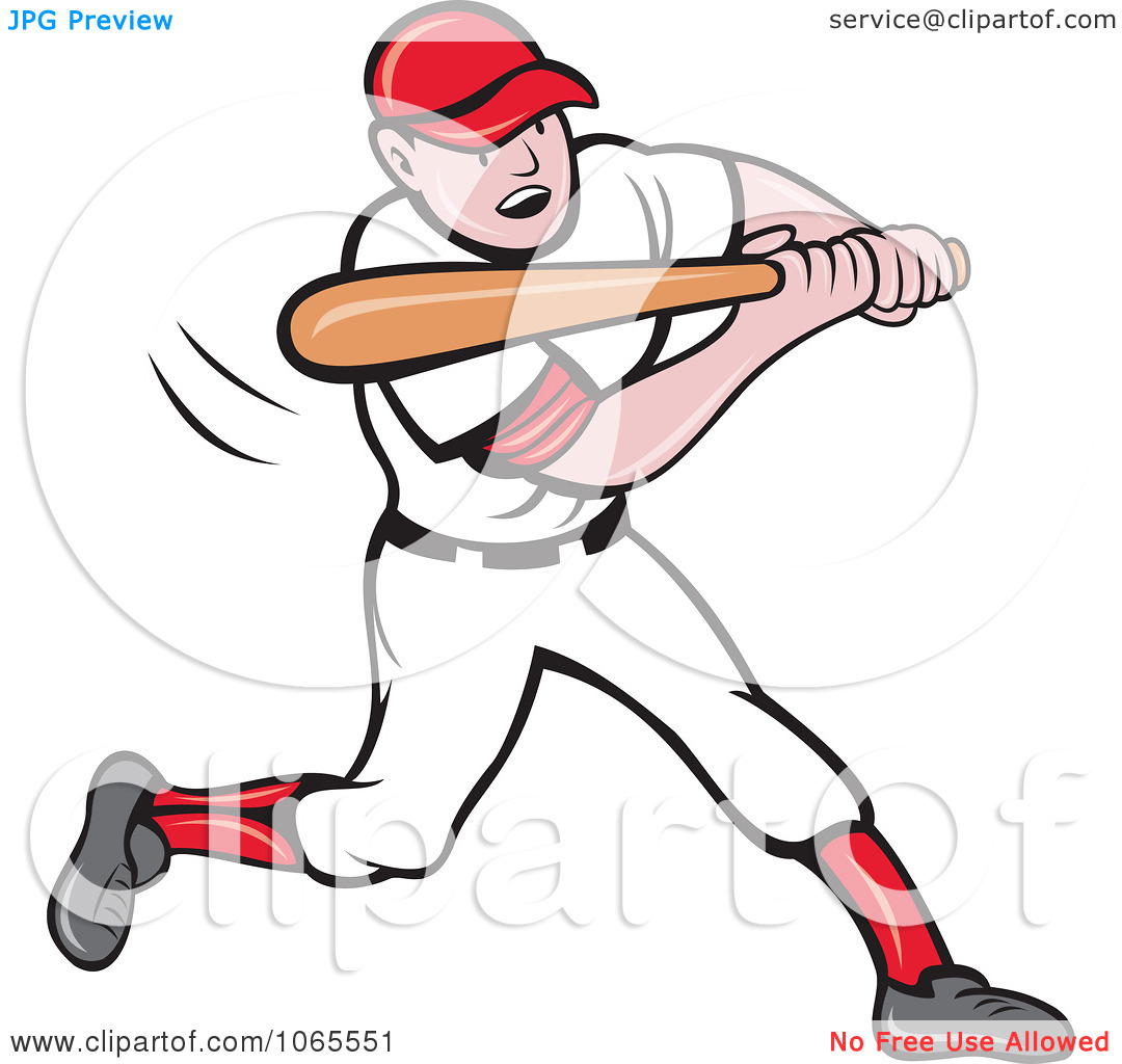 Clipart Batting Baseball Player 3.
