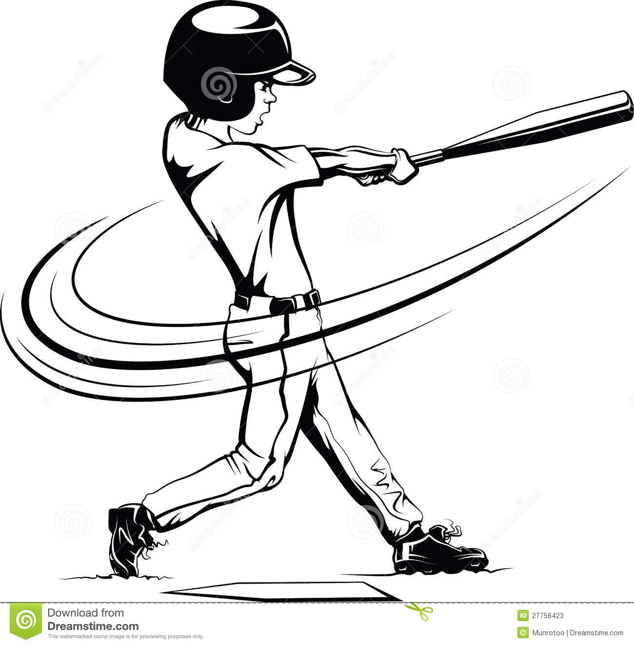 Batting Cage Clipart.