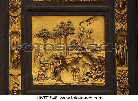 Pictures of Gates of Paradise, East doors by Lorenzo Ghiberti.