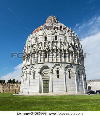 Stock Photo of Baptistery, Battistero in Piazza del Duomo or.
