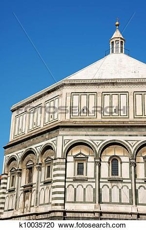 Stock Photography of Florence Baptistery or Battistero di San.