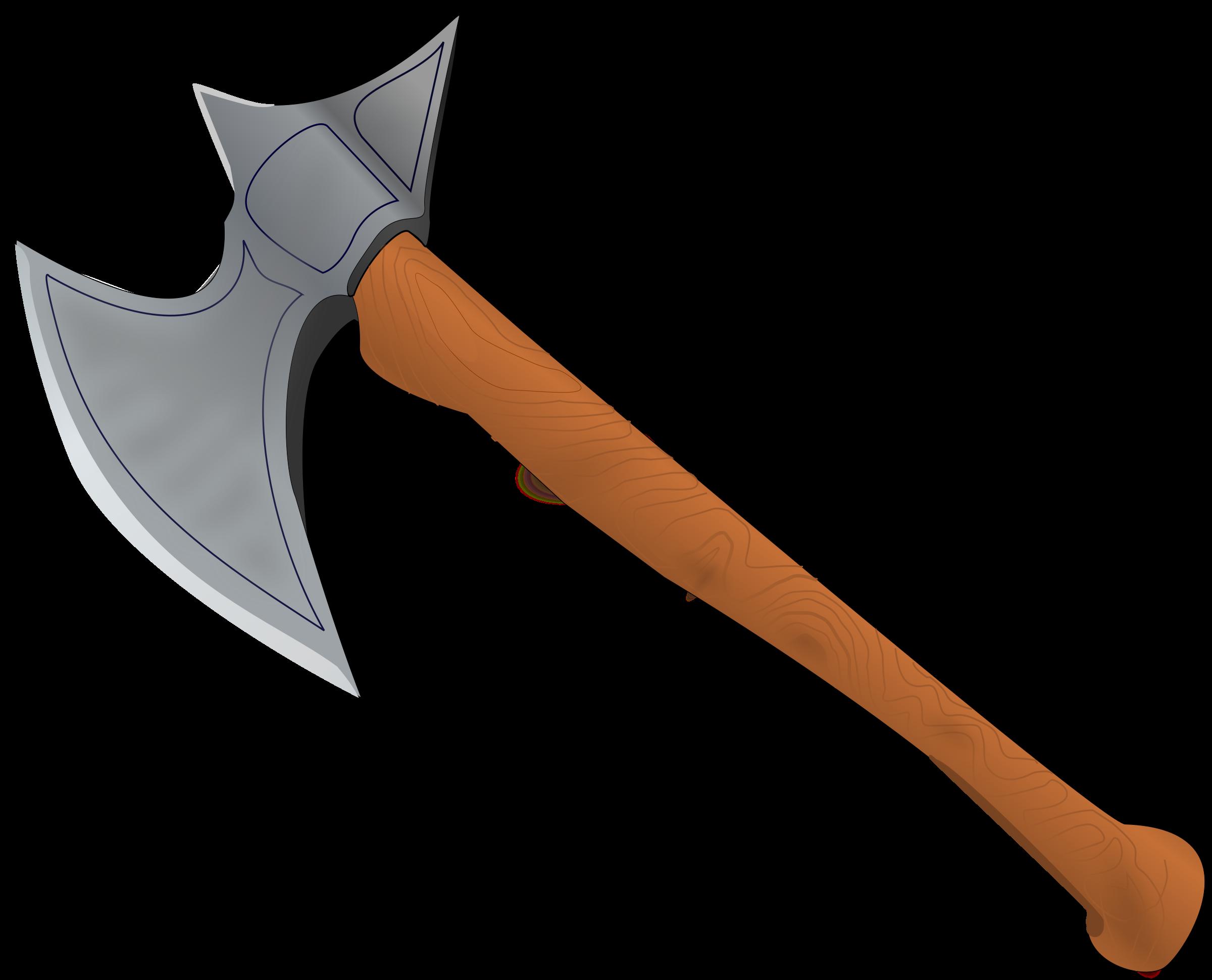 Medieval battle axe clipart.