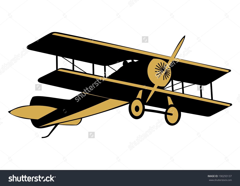Clip Art Aircraft First World War Stock Vector 190293137.