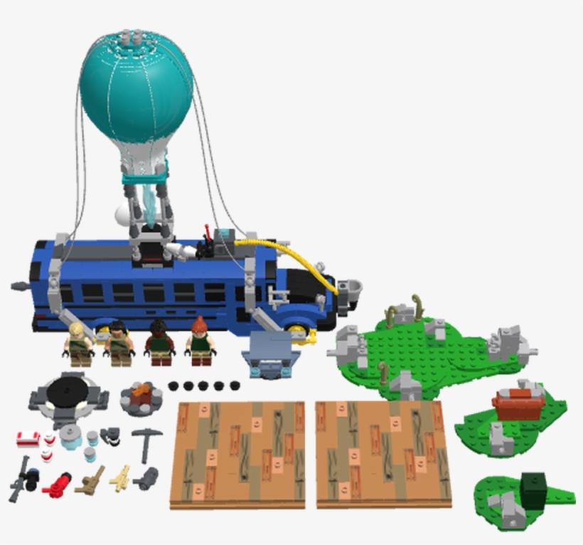 Lego Fortnite Battle Bus Transparent PNG.