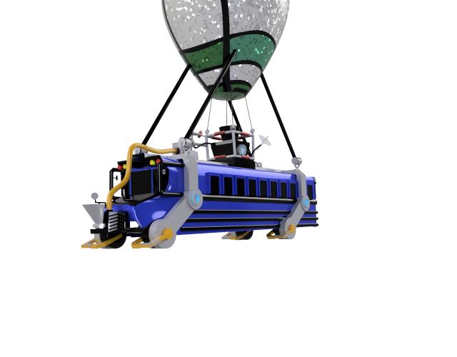 Speed Design: Fortnite Battle Bus.