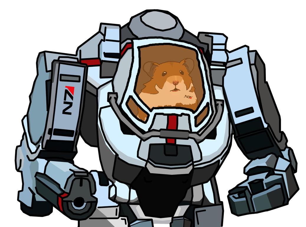 Space Hamster In Atlas Battle Mech, Mass Effect 3 by Jackobaggy on.