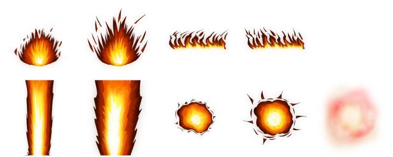 Fire Battle Effects.