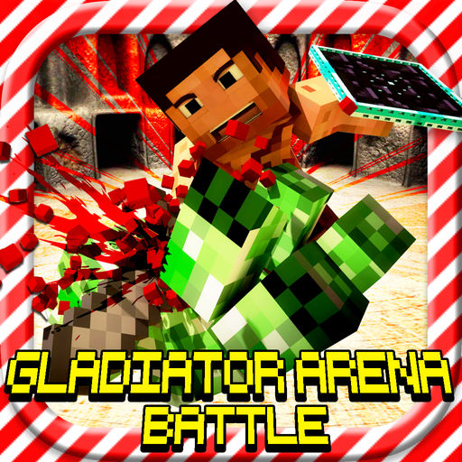 GLADIATOR ARENA BATTLE: Hunter Survival Block Game with Multiplayer.