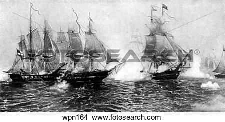Drawings of The Battle of Lake Erie, War of 1812 wpn164.