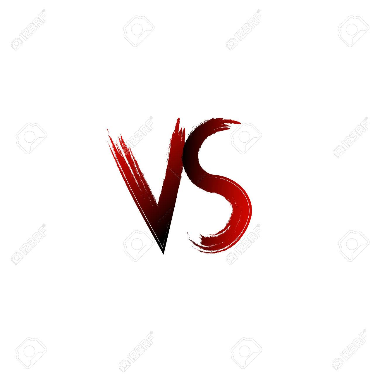 A vs versus letters vector illustration battle logo emblem..