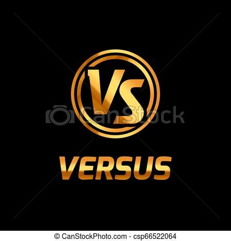 Versus battle logo background game. VS concept vector fight icon versus  contest competition.
