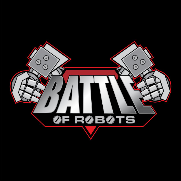 Battle of robots logo design Vector.
